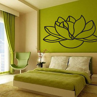 Wall Vinyl Sticker Decals Mural Art Decor Design Beauty Lotus Flower Gift Flora 351
