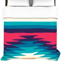 Kess InHouse Nika Martinez Surf 88 by 88-Inch Duvet Cover, Queen