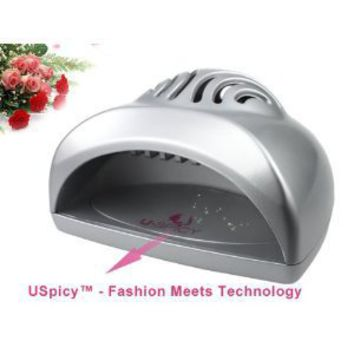 USpicy SEASHELL Portable Mini Fan Cute Size Handy Manicure Nail Dryer/Blower for Drying Nail Polish & Acrylic Nail(Silver)