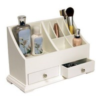 Amazon.com: White Small Cosmetic Organizer: Home & Kitchen