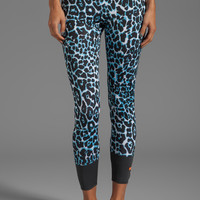 adidas by Stella McCartney Stu Long Tight A Legging in White/Black/Waterblue from REVOLVEclothing.com