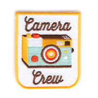 Camera Crew Iron On Patch