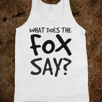 WHAT DOES THE FOX SAY TEE T SHIRT TSHIRT TANK TOP