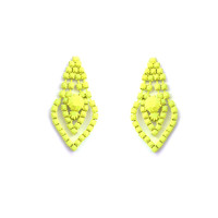 Matte Neon Mini Chandelier Earrings