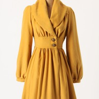 Ruched Marigold Coat