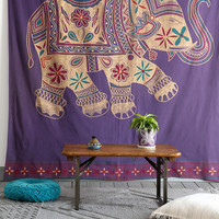 Urban Outfitters - Magical Thinking Printed Elephant Tapestry