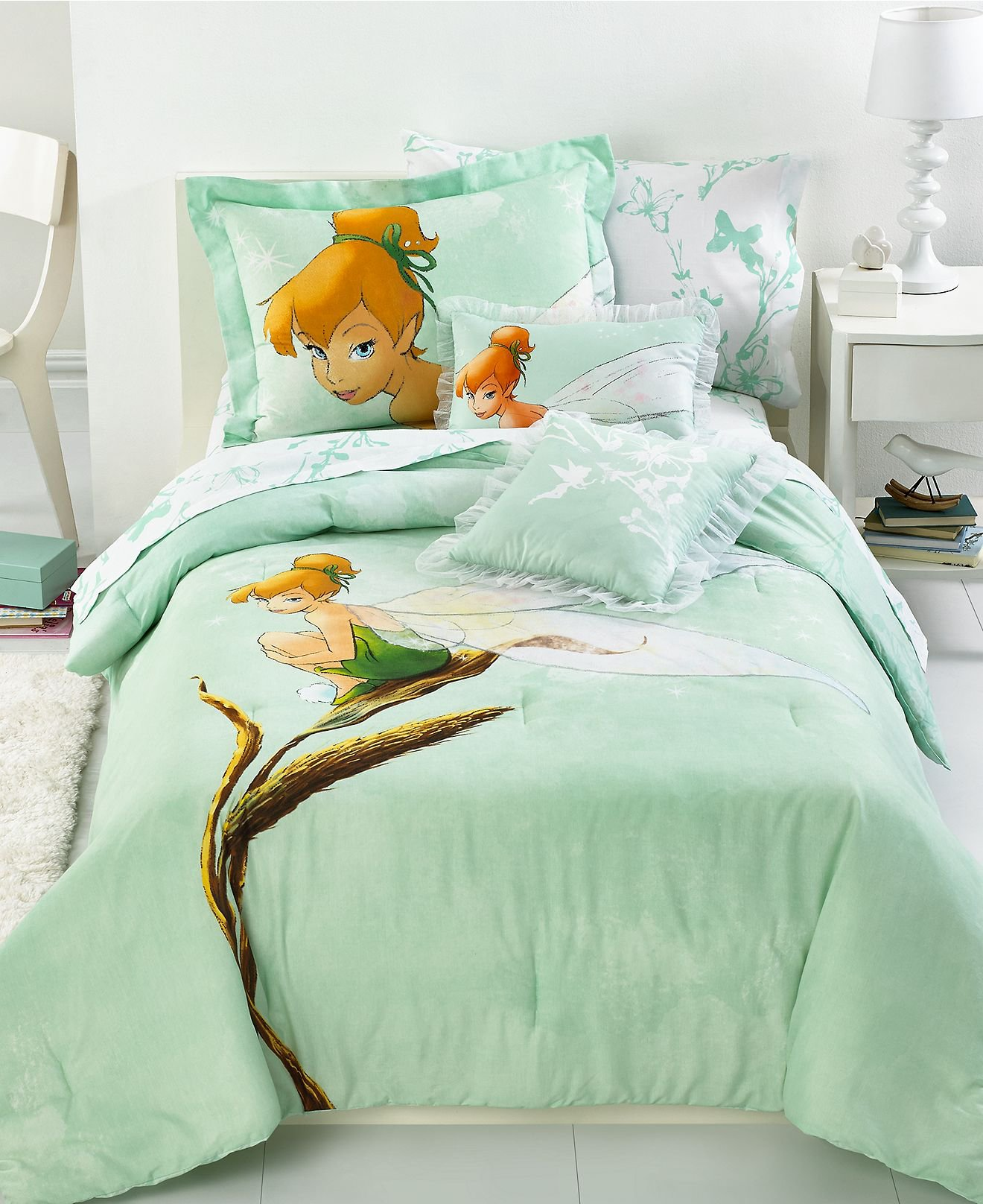 bedding tinkerbell tink watercolor comforter sets kids 39 bedding
