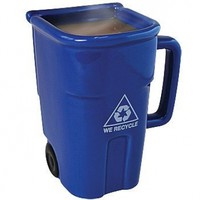 Recycle Bin-shaped Coffee Mug 12-oz. (Blue) or Cool Pencil Cup for Your Desk:Amazon:Kitchen & Dining