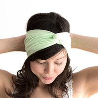 Turban Headband Mint Green