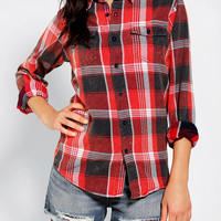 Urban Outfitters - Urban Renewal Acid Wash Flannel Shirt