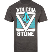 Volcom Super V Mens T-Shirt Heather Black  In Sizes
