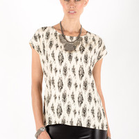 Southwest Keyhole Top - Women's Clothing and Fashion Accessories | Bohme Boutique