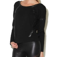 Long Sleeve Band Detail Sweatshirt | Shop Fashion Frontier at Arden B