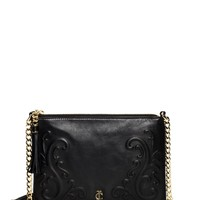Olvera Leather Flat Crossbody