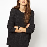 Monki | Monki Crew Neck Knitted Jumper at ASOS