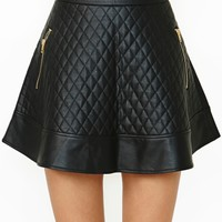 Nasty Gal Naomi Quilted Skirt