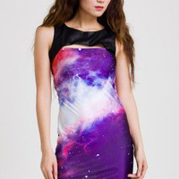 Chicwish Galaxy Print Shift Dress in Purple - New Arrivals - Retro, Indie and Unique Fashion