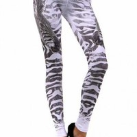 Polar Ice Zebra Leggings - Leggings Superstore