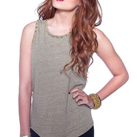 Basic Stud Muscle Tee