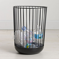 Design Ideas: Spoke Waste Can Black