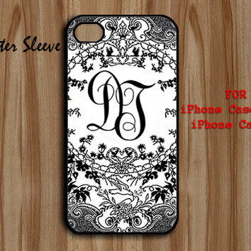 initial Monogram Foral , iPhone 5 rubber, iPhone 4/4s rubber , iPhone 5 plastic  iPhone 4/4s plastic, Cover Hard Plastic / Rubber