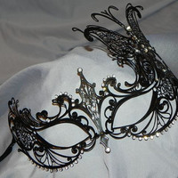 Butterfly Metallic Filigree Masquerade Mask