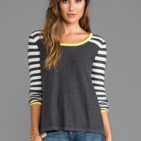 Central Park West Astor Court Striped Sweater in Charcoal from REVOLVEclothing.com