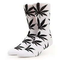 HUF Plantlife White & Black Crew Socks at Zumiez : PDP