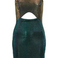 Snake Cut Out Bodycon Dress - New In This Week  - New In