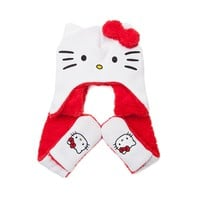 Girls Hello Kitty Fleece Hat Scarf, White, at Journeys Shoes