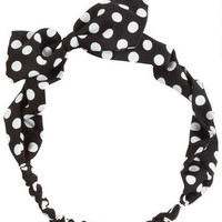 Polka Dot Double Layer Headwrap