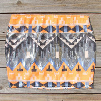 Back Trail Skirt in Orange