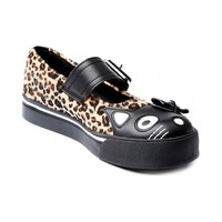 Womens TUK Kitty Face Leopard Mary Jane, Black, at Journeys Shoes