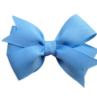 Baby blue hair bow - 3 inch light blue bow