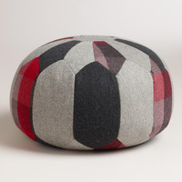Round Patchwork Pouf - World Market