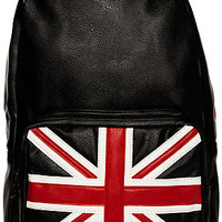 The UK Backpack in Black Vegan Leather