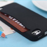 MagicPieces 3D Cute Whale Soft Silicone Case Cover For iPhone 4/4S Black