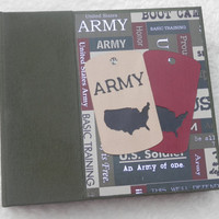 6x6 Army Scrapbook Photo Album