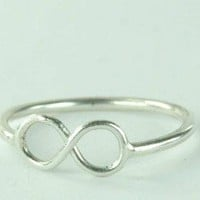 Endless Love Infinity Symbol Ring Sterling Silver by ExCognito
