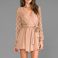 6 SHORE ROAD Gypsy Long Sleeve Dress in Earth from REVOLVEclothing.com