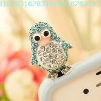 Smile Decor, Penguin (Blue), Crystal Pendant, Earphone Jack Accessory, Dust Plug, Ear Hole Cap, Ear Jack For Samsung, iPhone, Cell Phone, iPad, iPod Touch, Gift Idea:Amazon:Cell Phones & Accessories