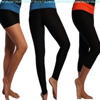 Performance Dry Fit Yoga Workout FoldOver Shorts Capris Leggings Pants:Amazon:Sports & Outdoors