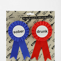 Drunk/Sober Ribbon - Pack Of 2