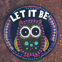 LET IT BE OWL CAR MAGNET - Junk GYpSy co.