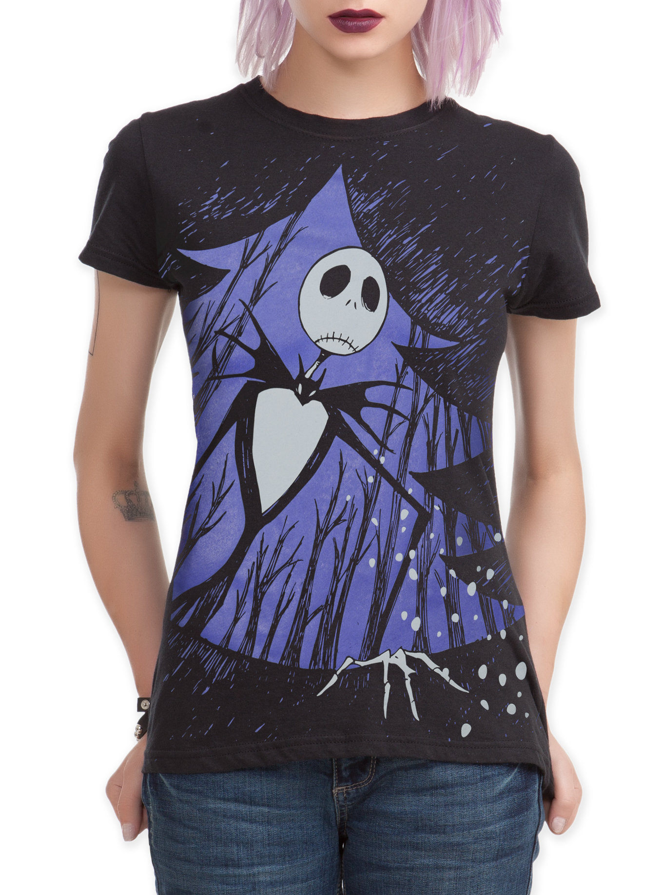 The Nightmare Before Christmas Xmas Door Girls T-Shirt | Hot Topic