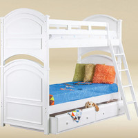 Kallista White Twin Over Twin Bunk Bed