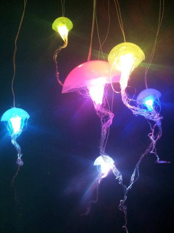 Jellyfish Hanging Lights With Rainbow From Ellipsisfish On. El Dorado Furniture. Gray Writing Desk. Floor Candle Holders. Gray Kitchen Floor. Modern Sectional Couches. Custom Home Builders Denver. Tv Media Console. Black Industrial Ceiling Fan