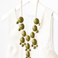 Bubble Necklace - Olive