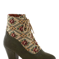 From the Same Cloth Boot in Forest | Mod Retro Vintage Boots | ModCloth.com