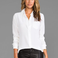 Equipment Brett Vintage Wash Blouse in Bright White from REVOLVEclothing.com